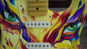 Custom Painted Fender Strat