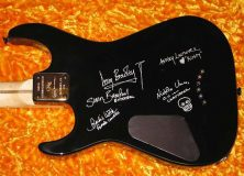 Hellraiser Autographs Guitar