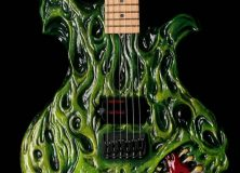 Hembry Green Flames Guitar
