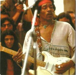 Hendrix with White 68 Strat