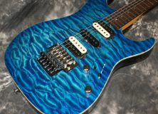 Suhr Standard Aqua Blue Burst Quilt Top Guitar