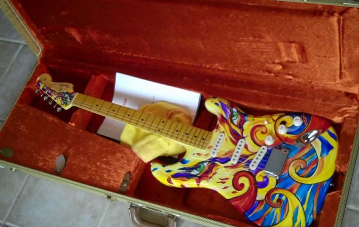 Paintings Of A Fender Stratocaster Body