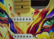 "Custom Painted Fender Strat by Cathee ""Cat"" Clausen"