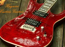 Haywire Garnet Red Tiger Striped Maple Flame Top Guitar