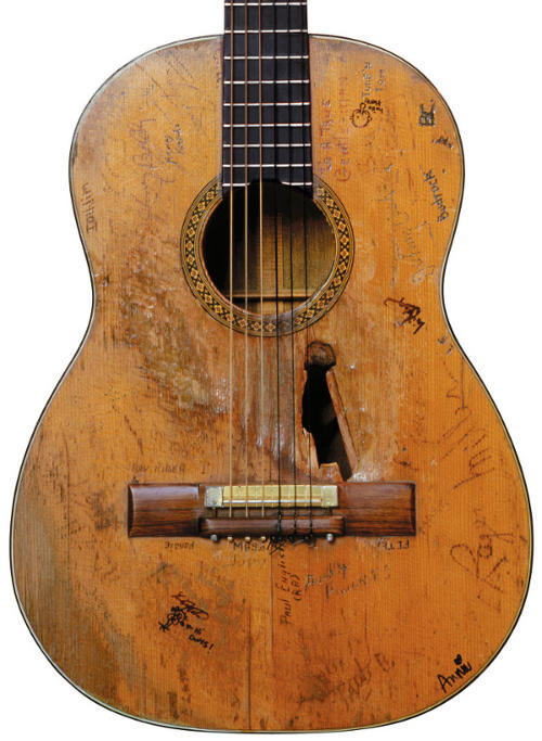 Willie Nelson's Worn Trigger Guitar