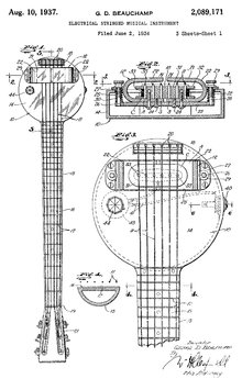 Rickenbacker Frying Pan Guitar Sketch