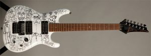 Joe Satriani's JS1000 Serial Number with Custom Artwork