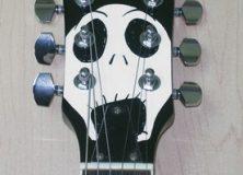 Nightmare Before Christmas guitar headstock