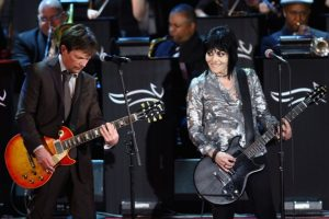 Michael J Fox Playing Guitar with Joan Jett