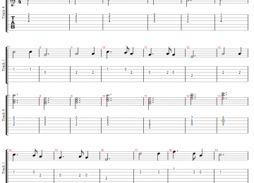 Silent Night Tablature