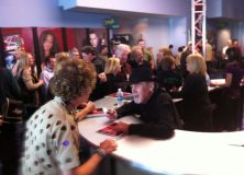 Gretch snapped this pic of Duane Eddy signing autographs