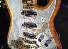 One of the custom Stratocasters from Fender's Booth