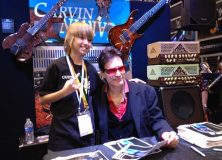 Steve Vai and his Carvin Amp tend to the Fans
