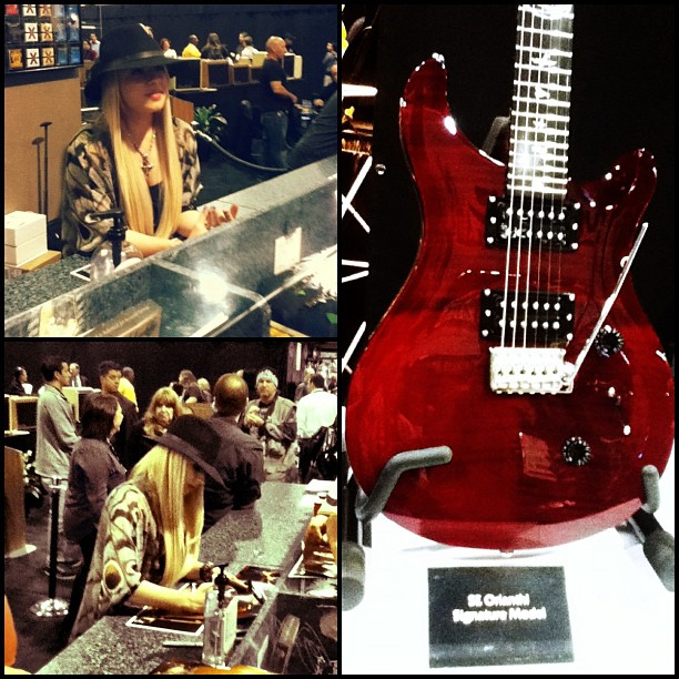 Orianthi and her new PRS SE