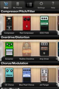 iStomp - Pedal Options Screen