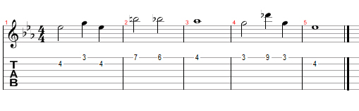 Melody Guitar Tab