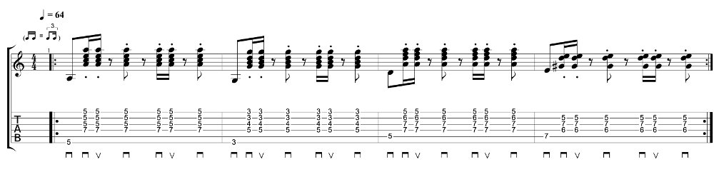 Reggae Rhythm Guitar Exercise