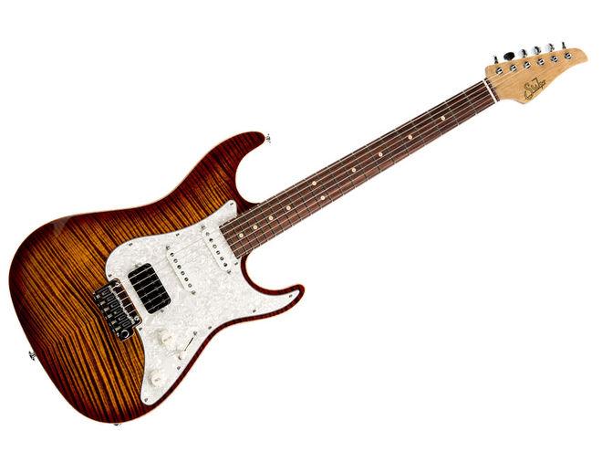 Suhr Flame Bengal Burst Guitar - Korina