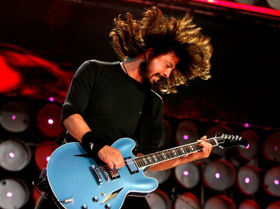 Dave Grohl's new hair style.