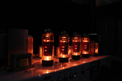 Guitar Amplifier Tubes Glowing