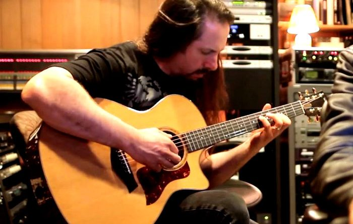 John Petrucci in the studio