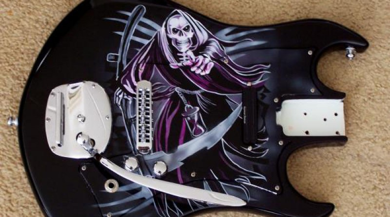 A Gallery of the Grim Reaper's Guitars