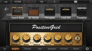 Positive Grid Amp Selection