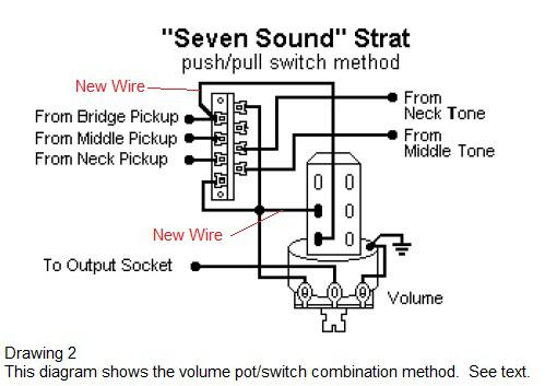 Installing Seven Way Switch Strat 8010 on 5 way guitar switch wiring